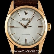Rolex Gold Capped S/S Silver Dial Oyster Perpetual Vintage 6334