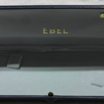 Ebel rare vintage watch box leather blu for gold models mens