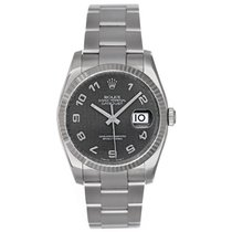 Rolex Datejust Stainless Steel Men's Watch White Gold...