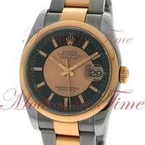 Rolex Datejust 36mm, Black Dial with Center Rose Gold Circle,...