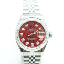 Rolex Datejust Ladies 26mm Steel White-Gold Bezel Diamonds Dial