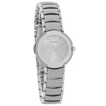 Rado La Coupole Ladies Platinum Ceramic Swiss Quartz Watch...