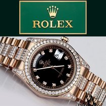 Rolex Presidential Day-date Ii  Black Dial With Diamond...