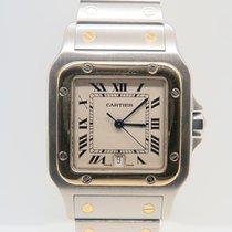 Cartier Santos Galbee 18k Gold Steel 29mm
