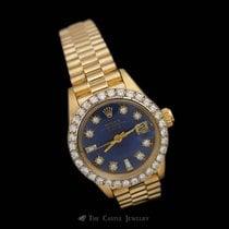 Rolex 6917 Ladies Presidential w/ Custom Blue Diamond Dial...