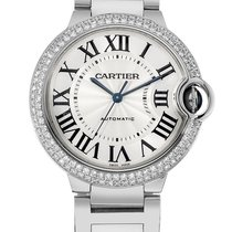 Cartier WE9006Z3 Ballon Bleu Diamond Automatic Unisex 18kt...