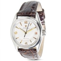 Rolex Oyster Date 6066 Vintage Ladies Watch in Stainless Steel
