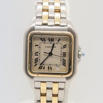 Cartier Panthere 18k Gold Steel 2 Lines 27mm