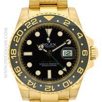 Rolex 18k yellow gold GMT-Master II