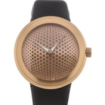 Ikepod Gold Dial Rubber Strap