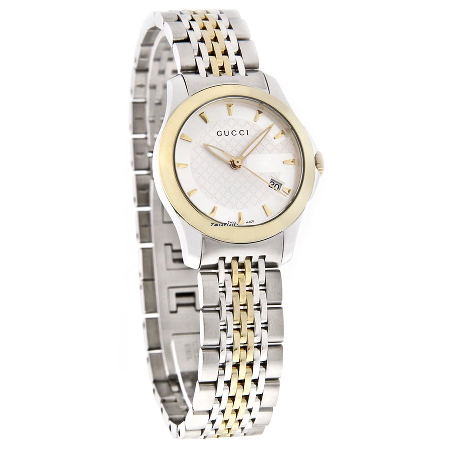 9ee1b599d5a Gucci 126 G-Timeless Ladies Two Tone Swiss Quartz Watch YA126511 for C  688  for sale from a Trusted Seller on Chrono24
