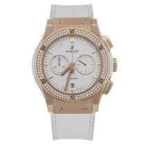 Hublot Classic Fusion Chronograph King Gold White Diamonds