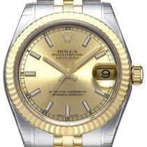 Rolex Datejust 31 Edelstahl Gelbgold 178273 Champagne Index...