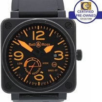 Bell & Ross Limited PVD Black Steel Orange BR01-97 Power...