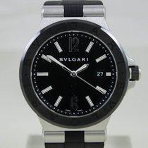 Bulgari Diagono Steel 42mm  Black Dial Full Set