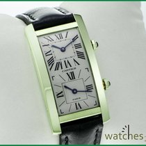 Cartier TANK CINTRÈE Americaine Dual Time Zone Gold