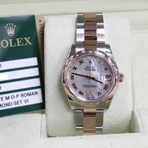 Rolex 178341 Datejust MOP Dial Diamond Bezel 18K Rose & Steel