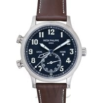 Patek Philippe Men Complications Blue Steel/Leather 42mm -...
