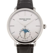 Frederique Constant Slim Line 39 Moonphase Silver Dial