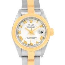 Rolex Datejust Steel Yellow Gold White Roman Dial Ladies Watch...
