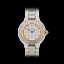 Cartier Must de 21 Stainless Steel & 18k Yellow Gold...