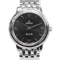 Omega De Ville Stainless Steel Black Quartz 424.10.24.60.01.001