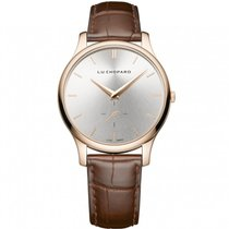 Chopard L.U.C. XPS Silver Dial 18kt Rose Gold Brown Leather...