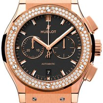 Hublot Classic Fusion King Gold Diamonds Chronograph 42mm