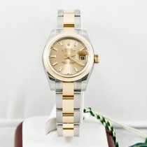Rolex Ladys Datejust Watch 179163 Champagne Index Dial