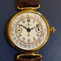 Anonimo Cronografo Sixta monopulsante oro 18 kt 39 mm