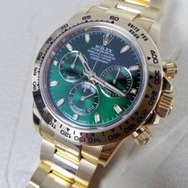Rolex DAYTONA 18K Yellow Gold Watch Green Dial