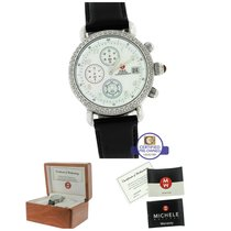 Michele CSX Day 0.50ctw Diamond Chronograph Stainless Steel MOP