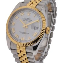 Rolex Used 116233_white_roman_used Mens 2-Tone Datejust with...