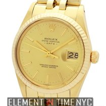 Rolex Oyster Perpetual Date 34mm 14k Yellow Gold Circa 1981
