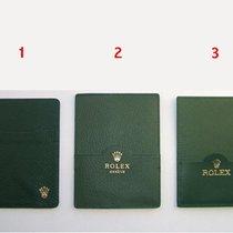Rolex Porta garanzia in pelle verde