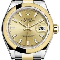 Rolex Lady-Datejust 28 279163 Champagne Index Yellow Gold...