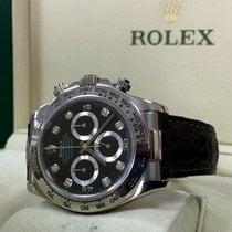 Rolex Oyster Daytona Cosmograph White Gold Diamond Index 40 mm