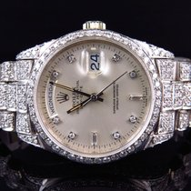 Rolex 18k White Gold Mens Rolex Presidential Day-Date Diamond...