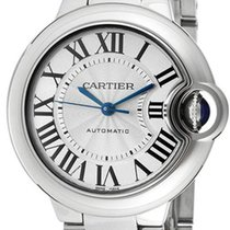 Cartier Ballon Bleu Automatic 33mm Silver Dial Women Steel...