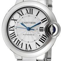 Cartier Ballon Bleu Automatic 33mm Silver Dial Women Steel...