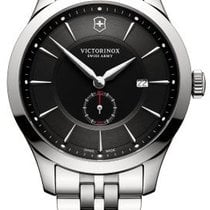 Victorinox Swiss Army ALLIANCE Steel Bracelet Dial Black 44mm...