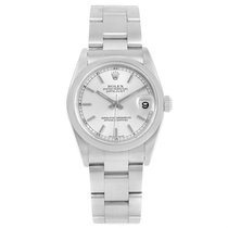 Rolex Datejust 31 Midsize Silver Baton Dial Steel Ladies Watch...