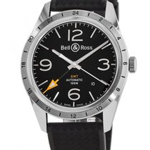 Bell & Ross Vintage Men's Watch BRV123-BL-GMT/SRB