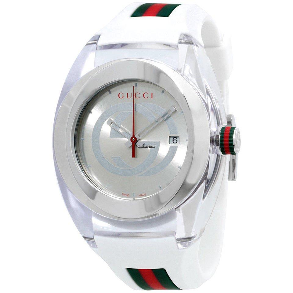 5e68e7092ab Gucci Sync Xxl Silver Dial Silicone Strap Unisex Watch Ya137102 for AED  1