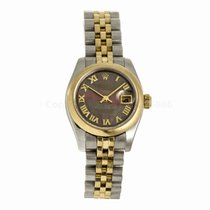 Rolex Lady Datejust Two Tone Black Mother of Pearl Watch 17916...