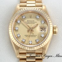 Rolex Datejust Gelbgold 750 Diamanten Automatik Lady Date Just