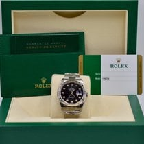 Rolex Unworn Datejust 116234 Black Diamond Dial 36mm