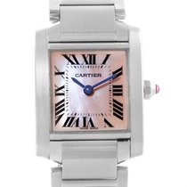 Cartier Tank Francaise Pink Mother Of Pearl Dial Ladies Watch...