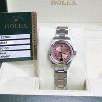 Rolex Ladies Oyster Perpetual 176200 Pink Dial Steel Box &...