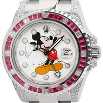 Rolex GMT-Master II Stainless Steel Ruby Mickey Mouse Dial...